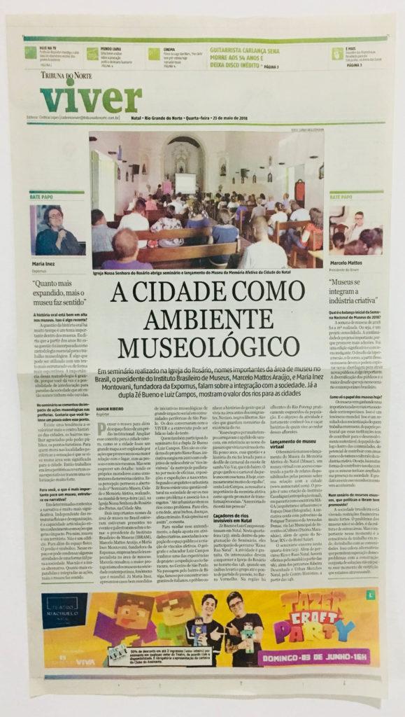 Reportagem sobre o lançamento oficial do Museu da Memória Afetiva da Cidade do Natal.