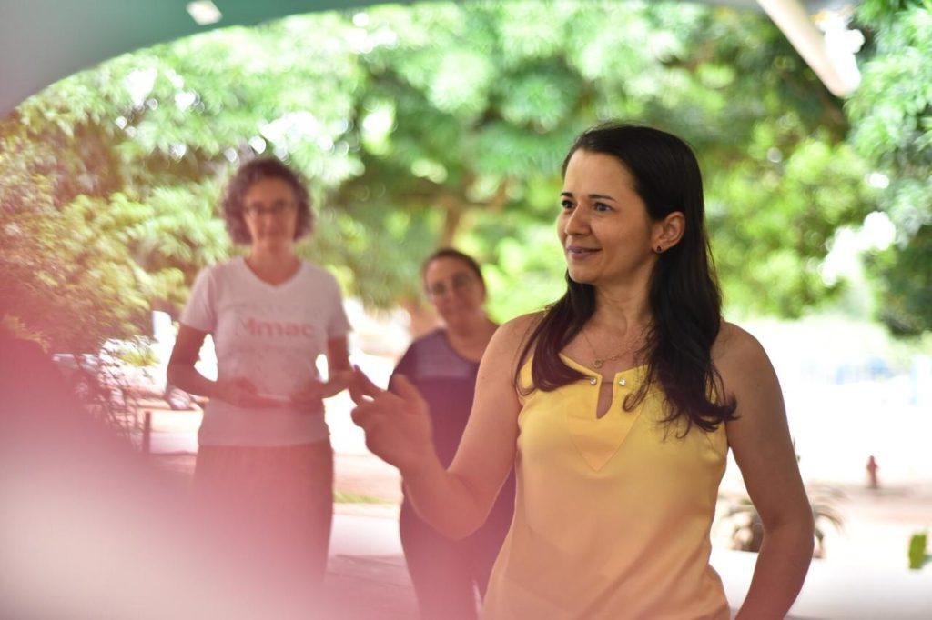 Reportagem sobre oficina promovida pelo Museu no Parque das Dunas com professores de Natal. Foto: Elisa Elise/Mmac